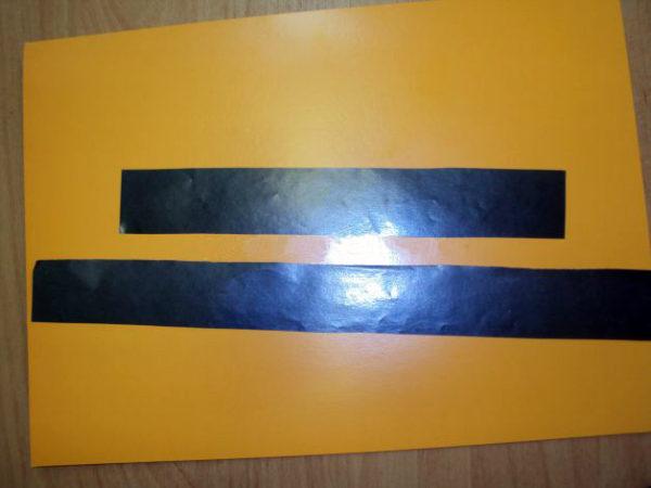 Полоски чёрной бумаги для перекрёстка
