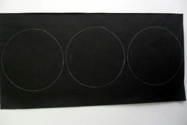 Прямоугольник-заготовка из чёрной бумаги