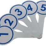 Веер с цифрами от 1 до 5