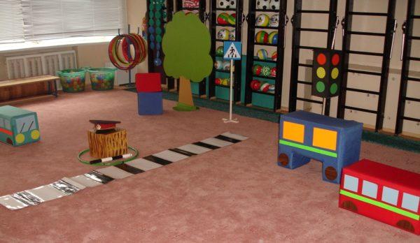 Игровая среда для ПДД в детском саду