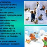 Физкультминутка «Наконец пришла зима»