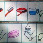 Алгоритм чистки зубов и мытья ног