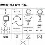 Схемы для зрительной гимнастики