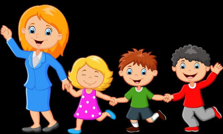 веселые картинки воспитатель с детьми