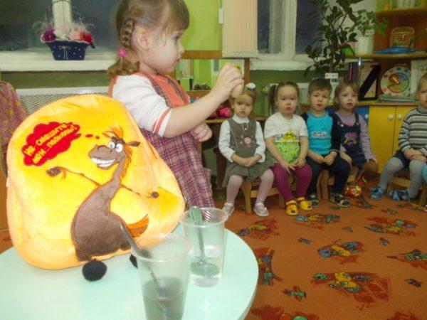 Занятие «Чистая вода — залог здоровья» в младшей группе