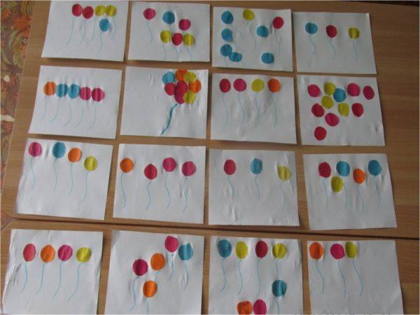 Аппликации с воздушными шариками