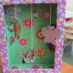 Полянка с бабочками и цветами