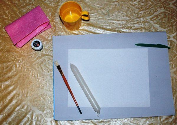 Материалы, которые нужны для создания основы рисунка