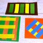 Аппликация «Разноцветный коврик»