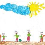 Детский рисунок Футбол