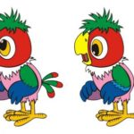 Картинки для поиска отличий с попугаем