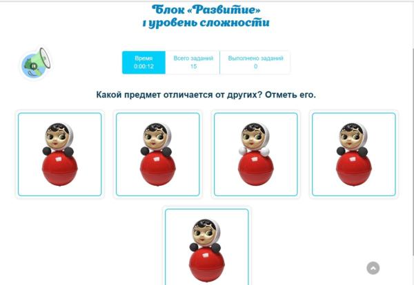 Скриншот задания с онлайн-сервиса «Разумейкин»