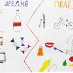 Рисунок по ЗОЖ: полезные и вредные продукты