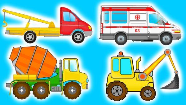 Карточки для работы с видами транспорта