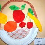 Аппликация Фрукты на тарелке