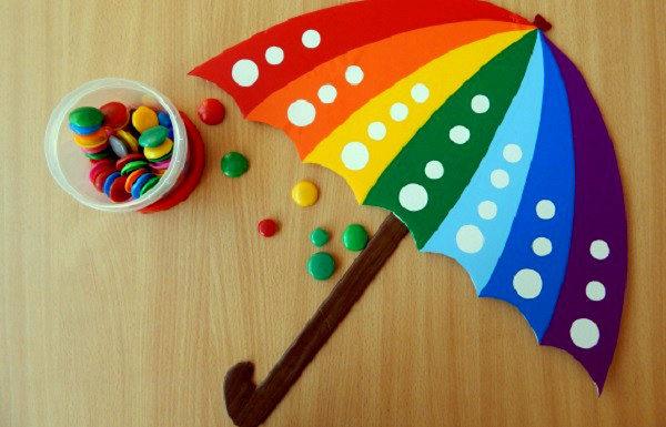 Зонтик со множеством цветных секций