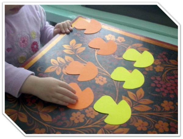 Грибочки из цветного картона