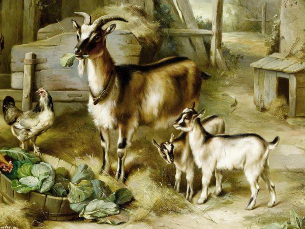 Картина «Коза с козлятами»