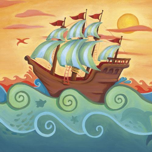 кораблик с море
