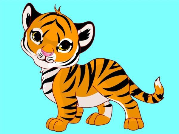 Мультяшный тигрёнок