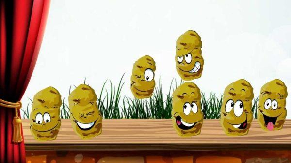 На подоконнике прыгают картофелины с человеческими лицами