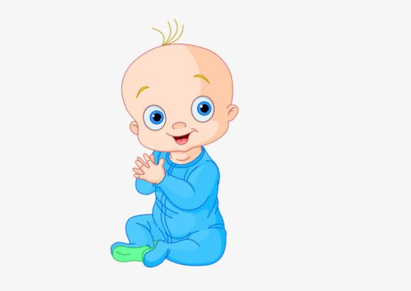 Нарисованный ребёнок хлопает в ладоши