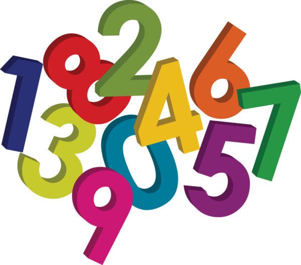 Разноцветные цифры в произвольном порядке