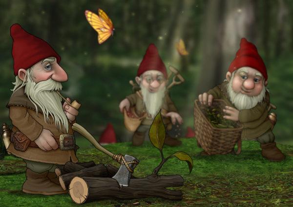 Старые гномы в лесу