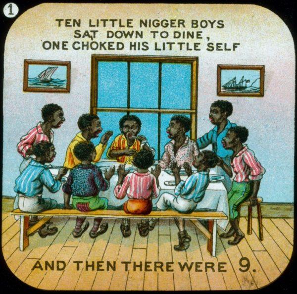 Иллюстрация к считалке «10 негритят»
