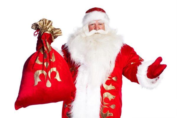 Дед Мороз с мешком подарков в руке