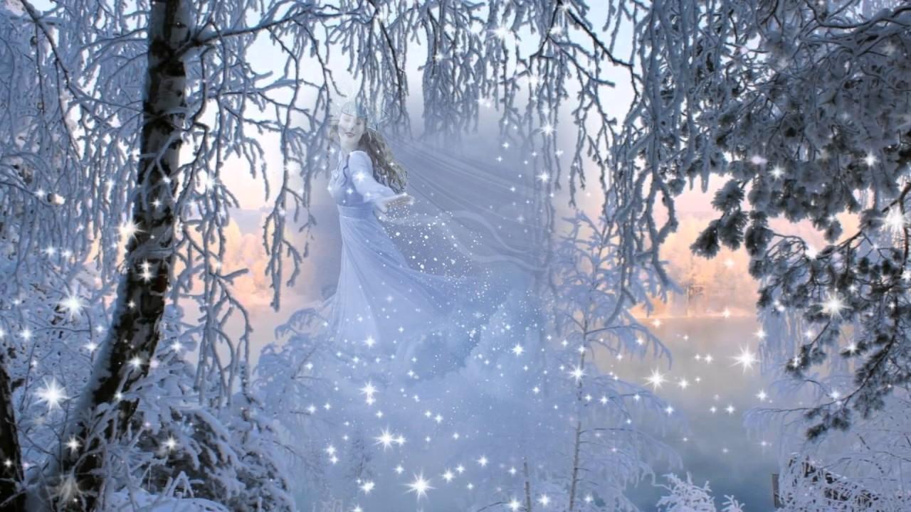 телефоны, режимы анимационная картинка заснеженный лес пурга метель прямой декупаж салфеткой