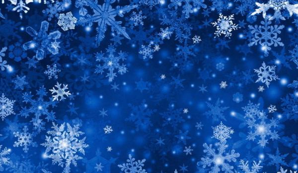 В воздухе кружатся снежинки