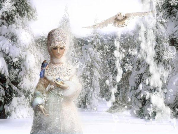 Зима в образе красавицы