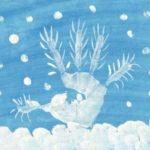 Зимнее дерево из отпечатка ладошки