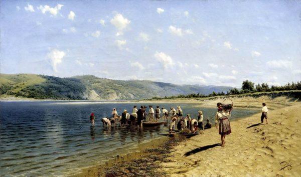 Тоня на реке