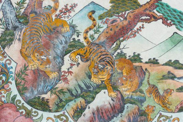 Китайская живопись с изображением тигров