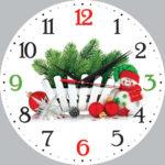 Часы в новогоднем стиле