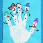 Рисуем ладошкой зимних персонажей