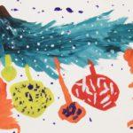 Ёлочные игрушки: рисунок ребёнка 4-х лет