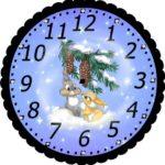 Часы с новогодними мотивами