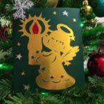 Рождественская открытка руками ребёнка