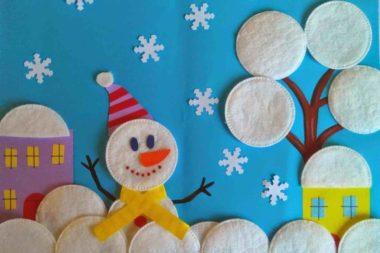 Довольный снеговик