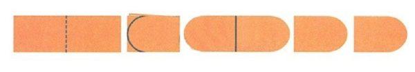 Последовательность вырезания сразу двух грибных ножек