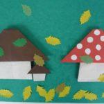 Грибы в технике оригами