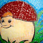 Мозаичная аппликация «Весёлый гриб»