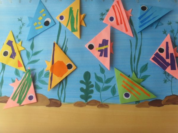 Конструирование и аппликация: Рыбки в аквариуме
