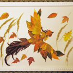 Жар-птица из осенних листьев