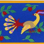 Жар-птица из кусочков тканей