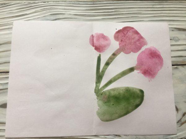 Рисование монотипии «Цветы»