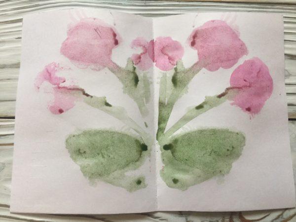 Монотипия «Цветы»